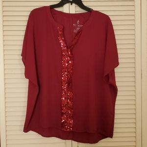 JUICY COUTURE pink top with sequins accents